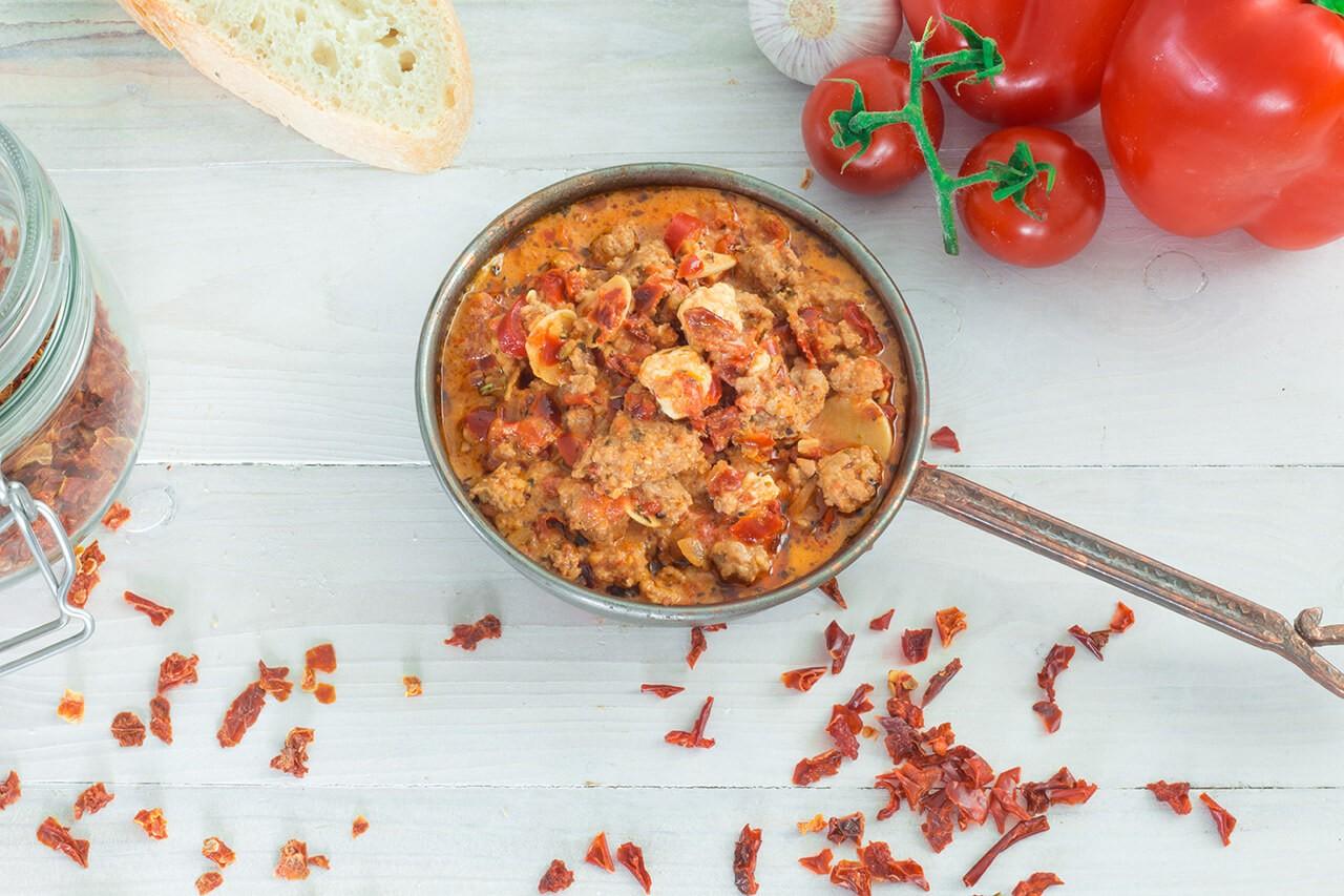 rezept_Knoblauch-Paprika-Tomate-Zwiebel-Griechische-Hackpfanne