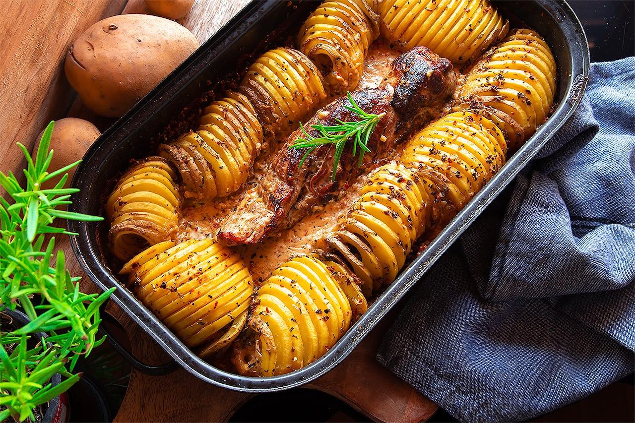 rezept_veggiepur_mediterranes_schweinefilet_auf_kartoffelgratin